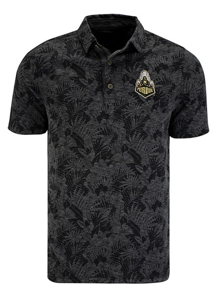 Purdue Tommy Bahama Palmetto Palms Polo, Click to See Larger Image