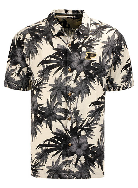 Purdue Tommy Bahama Harbor Island Hibiscus Silk Shirt, Click to See Larger Image