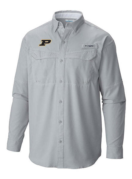 Purdue Columbia Low Drag Offshore Long Sleeve PFG Shirt, Click to See Larger Image