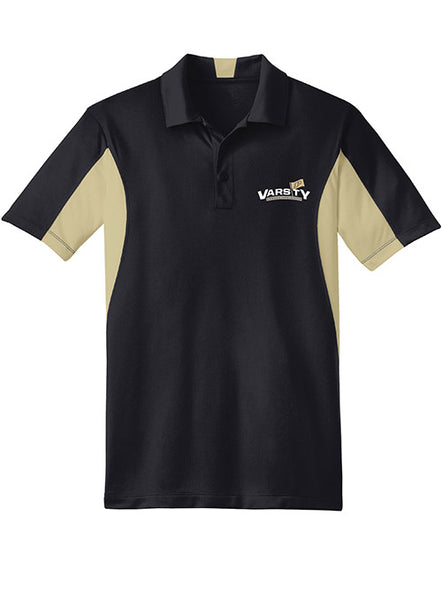 Purdue Varsity P Colorblock Polo, Click to See Larger Image