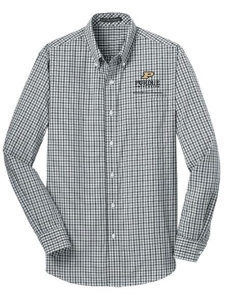 Purdue School of Mechanical Engineering Woven Shirt, Click to See Larger Image