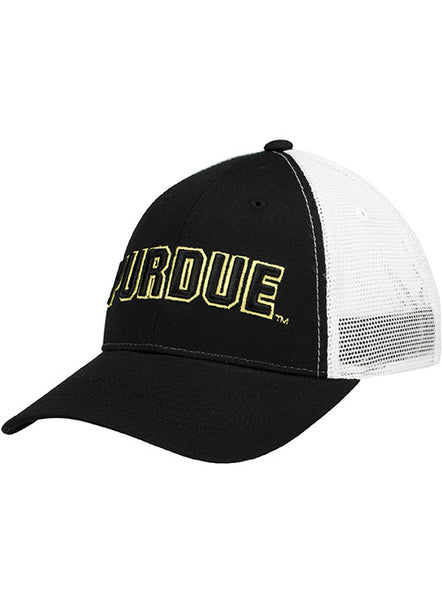 Purdue Wordmark Meshback Structured Adjustable Hat, Click to See Larger Image