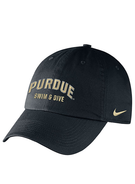 Purdue Nike Swimming & Diving Heritage86 Adjustable Hat, Click to See Larger Image