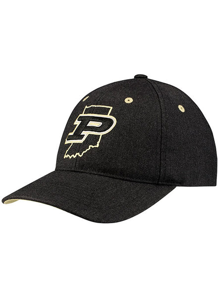 Purdue State Outline Structured Adjustable Hat, Click to See Larger Image