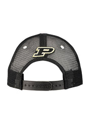 Purdue Tri-Color Meshback Structured Snapback Adjustable Hat