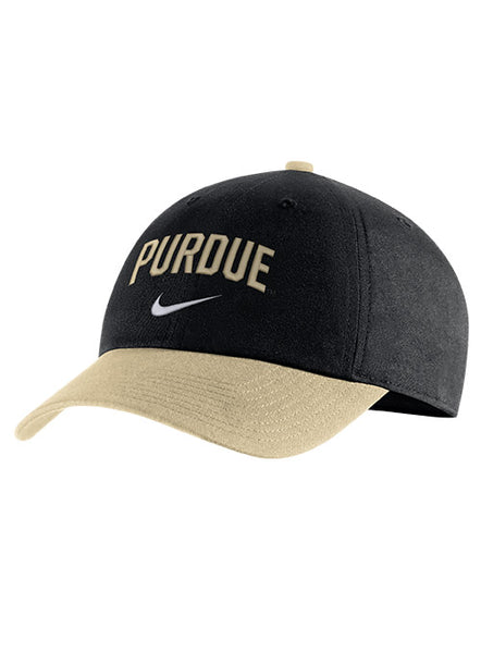 Purdue Nike Heritage86 Arch Unstructured Adjustable Hat, Click to See Larger Image