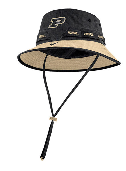 Purdue Nike Dri-FIT® Sideline Bucket Hat, Click to See Larger Image