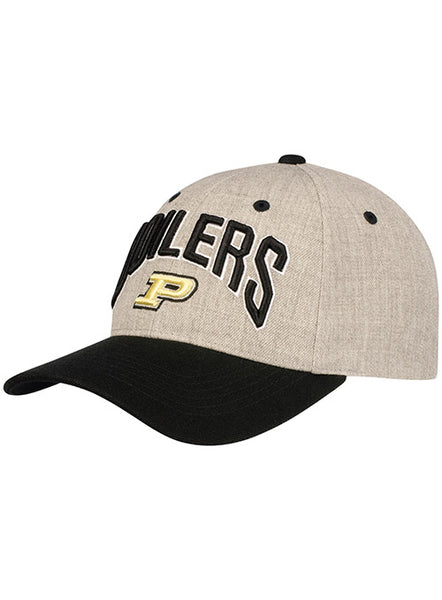 Purdue Two Tone Wool Structured Adjustable Hat, Click to See Larger Image