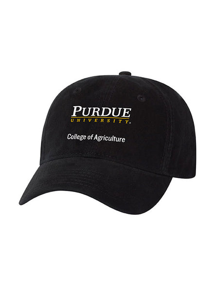Purdue College of Agriculture Unstructured Adjustable Hat, Click to See Larger Image