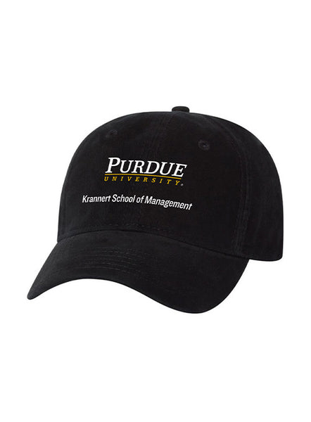 Purdue Krannert School of Management  Unstructured Adjustable Hat, Click to See Larger Image