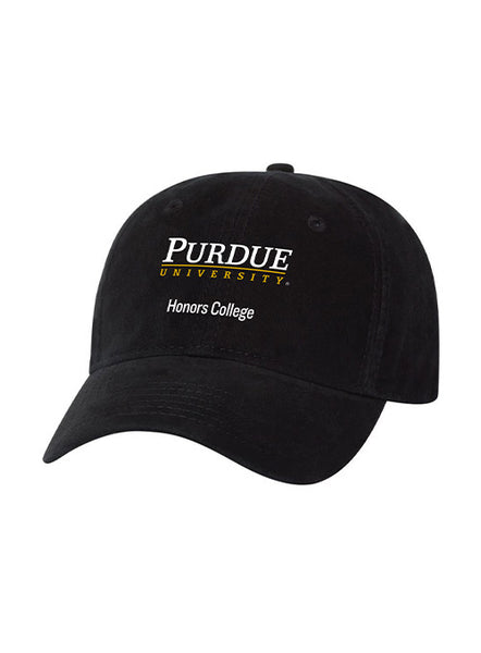 Purdue Honors College Unstructured Adjustable Hat, Click to See Larger Image