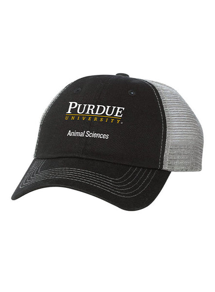 Purdue Animal Sciences Contrast Stitch Unstructured Adjustable Meshback Hat, Click to See Larger Image