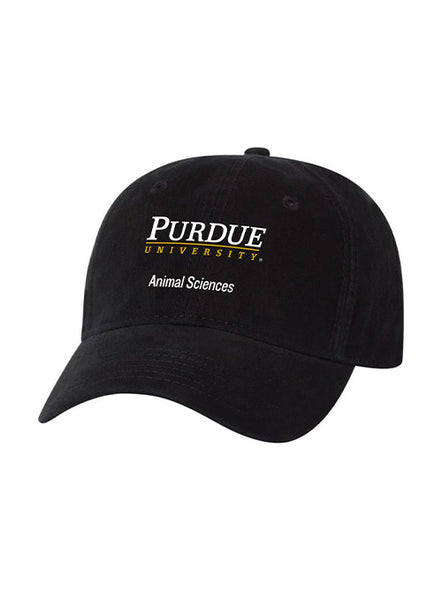 Purdue Animal Sciences Unstructured Adjustable Hat, Click to See Larger Image