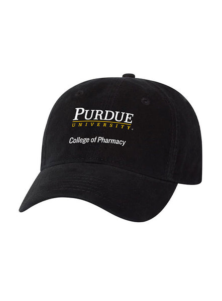 Purdue College of Pharmacy Unstructured Adjustable Hat, Click to See Larger Image