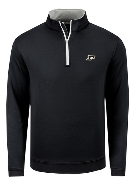 Purdue Peter Millar Perth Stretch Loop Terry 1/4 Zip Jacket, Click to See Larger Image