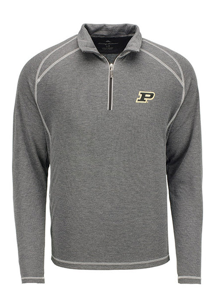 Purdue Tommy Bahama New Firewall 1/2 Zip Sweatshirt, Click to See Larger Image