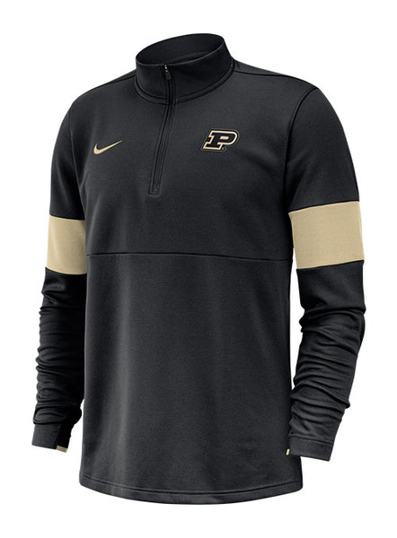 Purdue Nike Sideline Dri-FIT® Therma 1/2 Zip Jacket, Click to See Larger Image