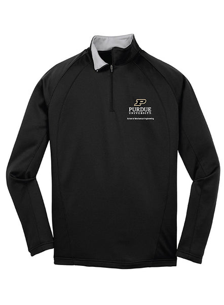 Purdue School of Mechanical Engineering 1/4 Zip Jacket, Click to See Larger Image