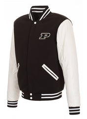 Purdue Reversible Fleece Button Snap Jacket