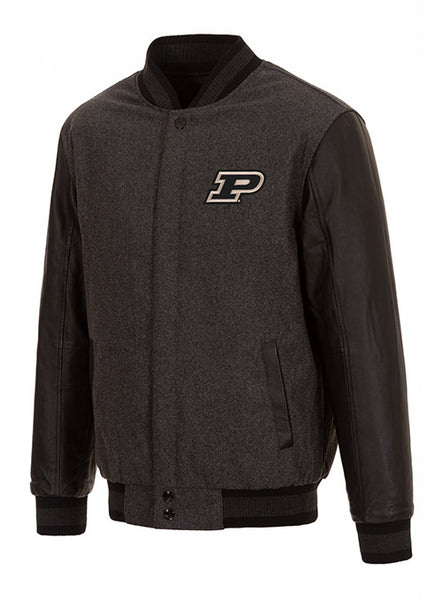 Purdue Reverse Quilt Lining Button Up Jacket, Click to See Larger Image