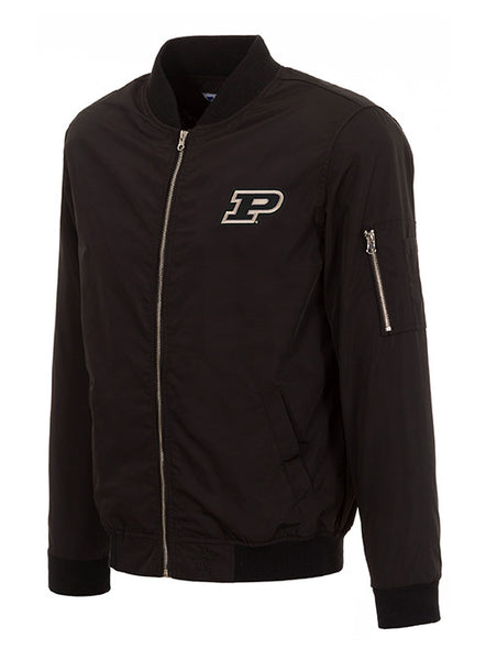 Purdue Full Zip Nylon Bomber Jacket, Click to See Larger Image
