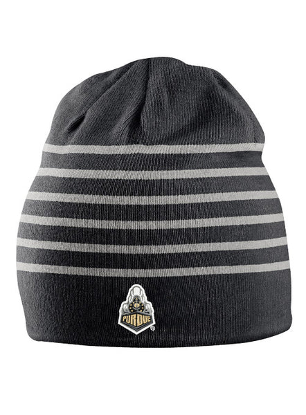 Purdue Nike Multi Stripe Knit Beanie, Click to See Larger Image