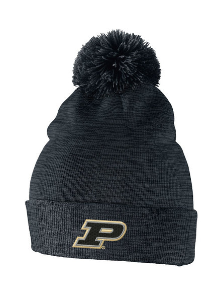 Purdue Nike Heather Pom Knit Hat, Click to See Larger Image