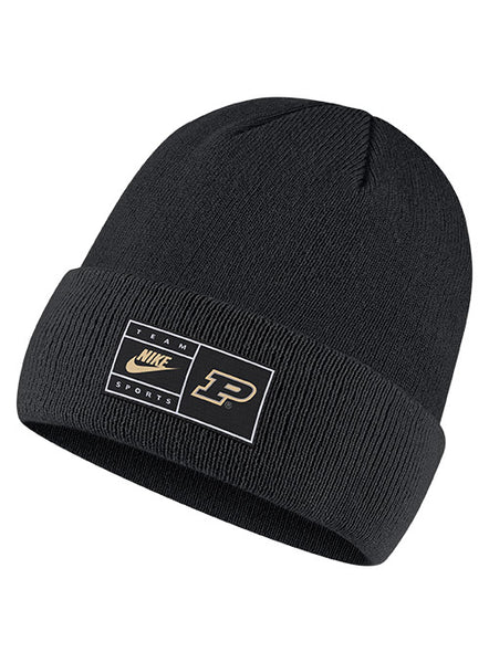 Purdue Nike Surplus Cuffed Knit Hat, Click to See Larger Image