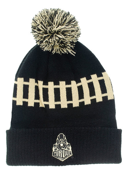 Purdue Train Track Knit Hat, Click to See Larger Image