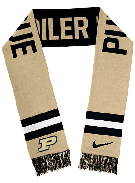 Purdue Nike Spirit Two-Sided Knit Scarf, Click to See Larger Image