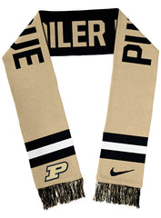 Purdue Nike Spirit Two-Sided Knit Scarf