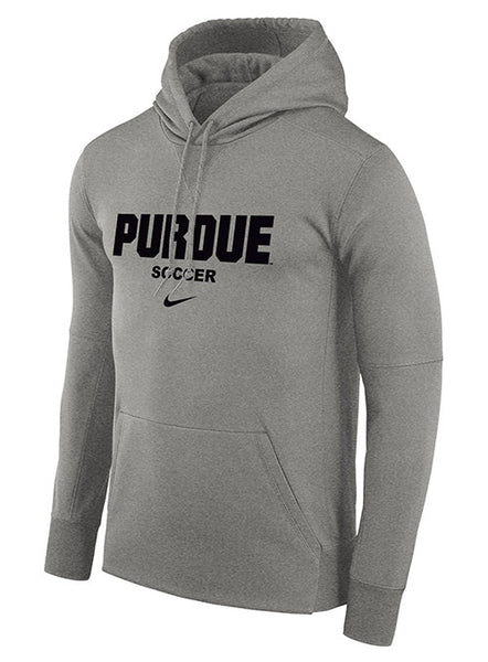Purdue Nike Soccer Therma Pullover Hooded Sweatshirt, Click to See Larger Image