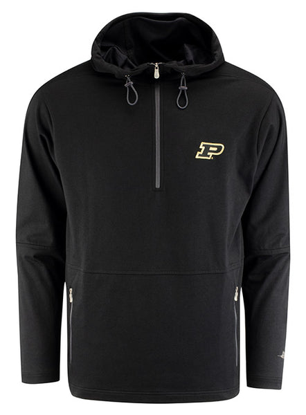 Purdue Tommy Bahama Headstart Half Zip Hooded Sweatshirt, Click to See Larger Image