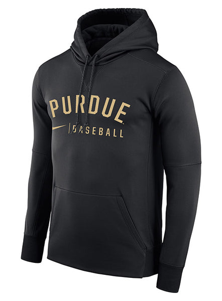 Purdue Nike Baseball Therma Pullover Hooded Sweatshirt, Click to See Larger Image