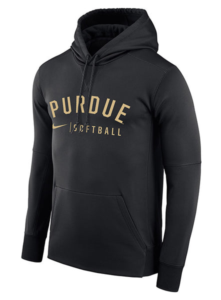 Purdue Nike Softball Therma Pullover Hooded Sweatshirt, Click to See Larger Image