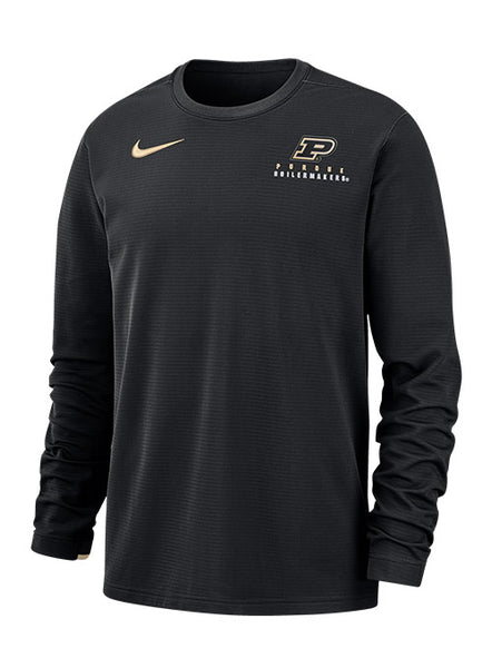 Purdue Nike Sideline Dri-FIT® Modern Crew Sweatshirt, Click to See Larger Image