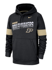 Purdue Nike Sideline Therma Hooded Sweatshirt