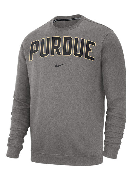 Purdue Nike Club Crew Sweatshirt, Click to See Larger Image