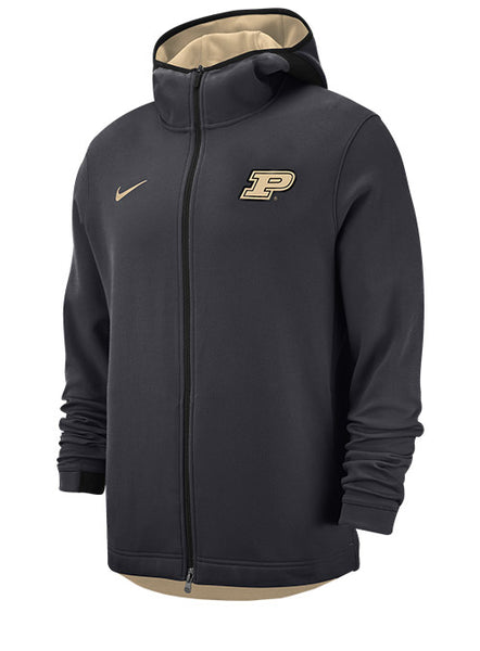 Purdue Nike Dri-FIT® Showtime Full Zip Hooded Sweatshirt, Click to See Larger Image