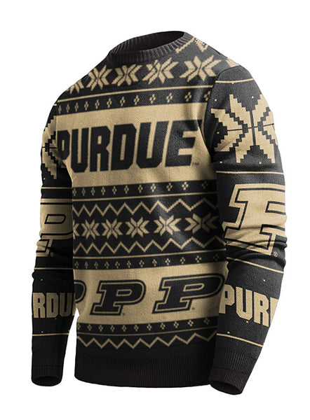 Purdue Holiday Sweater, Click to See Larger Image