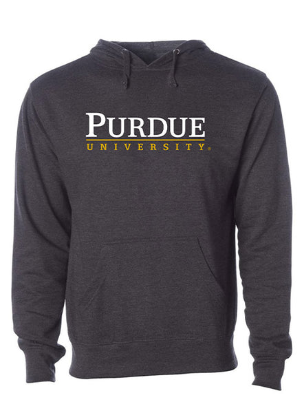 Purdue Signature Logo Hooded Sweatshirt, Click to See Larger Image
