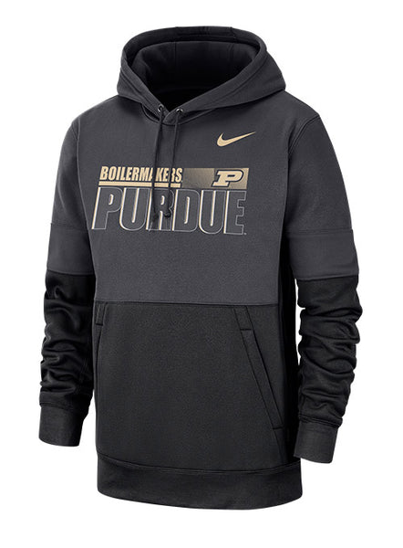 Purdue Nike Sideline Hooded Therma Sweatshirt, Click to See Larger Image