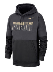 Purdue Nike Sideline Hooded Therma Sweatshirt
