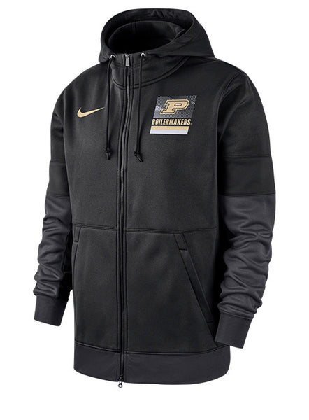 Purdue Nike Sideline Full Zip Hooded Sweatshirt, Click to See Larger Image