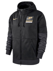 Purdue Nike Sideline Full Zip Hooded Sweatshirt