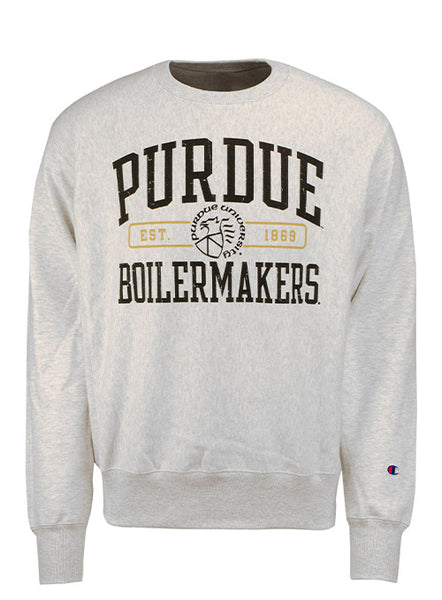 Purdue Champion Reverse Weave Vintage Crew Sweatshirt, Click to See Larger Image