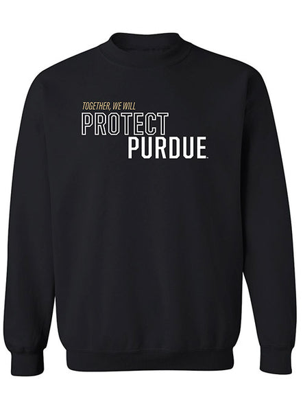 Together We Will Protect Purdue Crew Sweatshirt, Click to See Larger Image