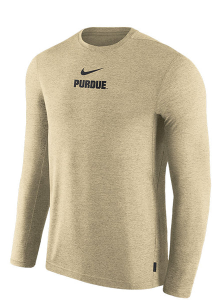 Purdue Nike Sideline Coaches Dri-FIT® Long Sleeve T-Shirt, Click to See Larger Image