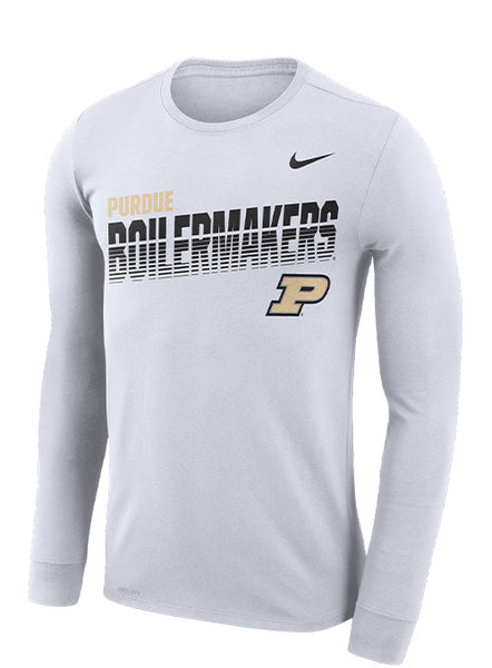 Purdue Nike Sideline Scrimmage Dri-FIT® Long Sleeve T-Shirt, Click to See Larger Image
