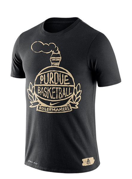 Purdue Nike Crest Dri-FIT® Cotton T-Shirt, Click to See Larger Image